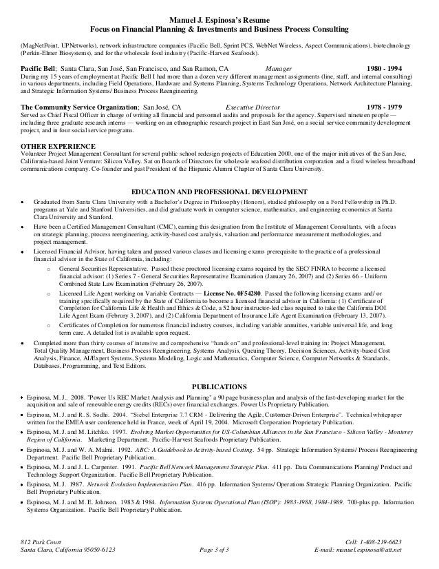 Financial Planning Consultant Resume   mwb-online.co