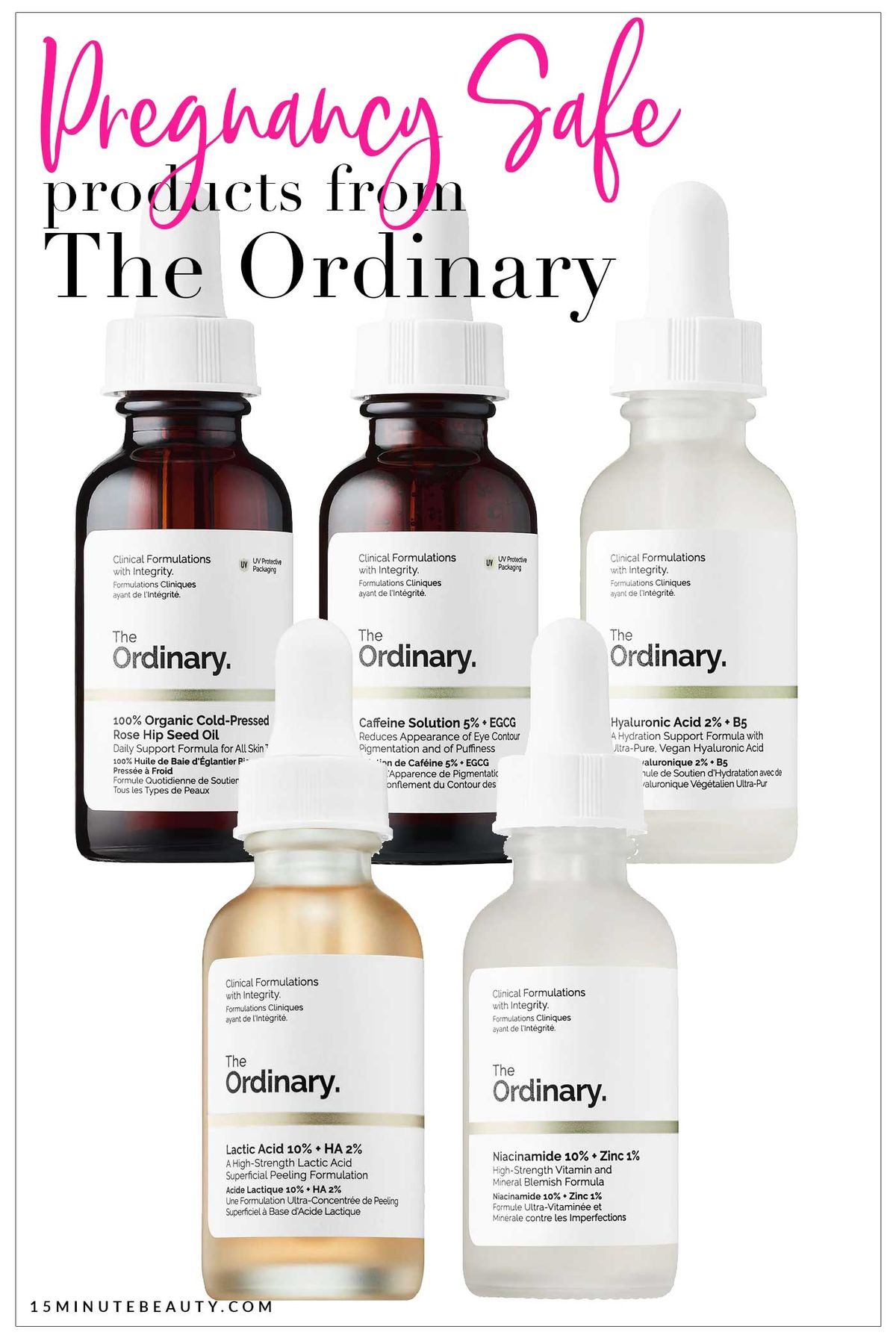 Pregnancy Safe Skincare from The Ordinary