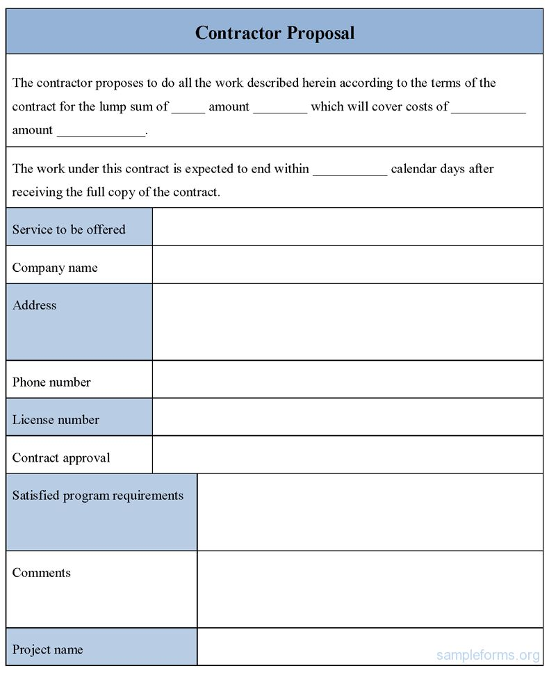 Free Contractor Forms Templates 9 Best Contractor Forms Images On - real estate proposal template