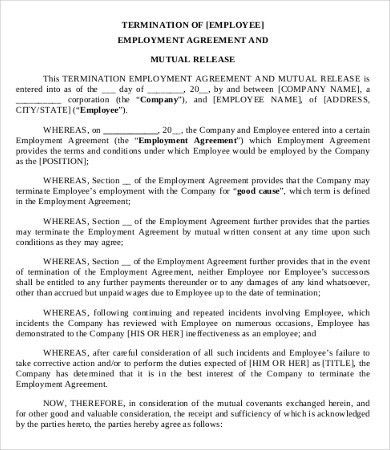 Separation Agreement Template Legal Marriage Separation Agreement - employment separation agreement