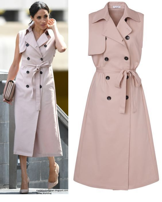Beige trench design