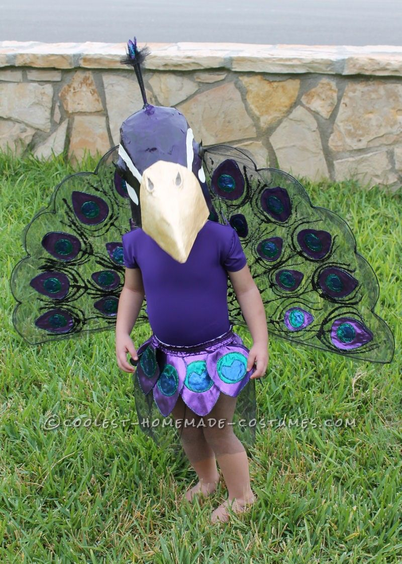 This toddler peacock costume is honestly very time consuming and has many tedious steps, but will be beautiful and well worth the time once completed. The