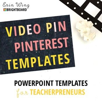 TpT Sellers, are you looking for a fast and easy way to create video pins to promote your teaching resources on Pinterest? This pack includes 7 perfect-for-Pinterest video templates. >> Check out the video preview to learn more! #videopins #teacherpreneurs #tptsellers #pinterestmarketing