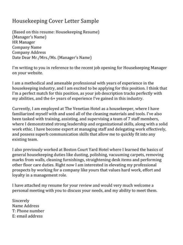Room Attendant Cover Letter Room Attendant Cover Letter - housekeeping cover letter