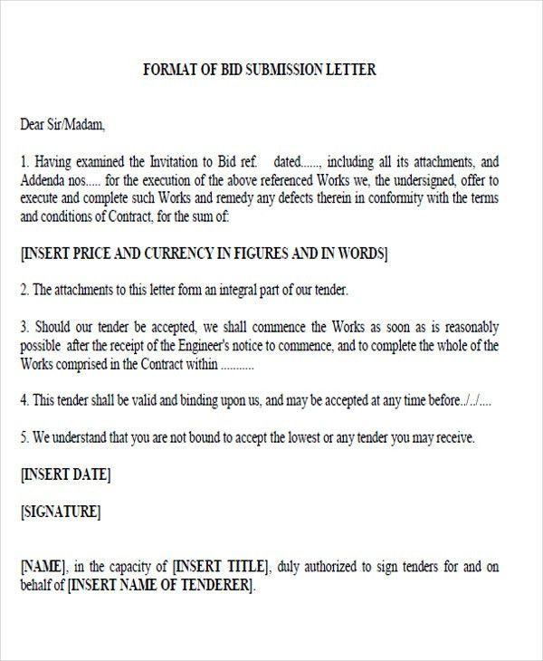 Bid Proposal Letter Bid Proposal Template Invitation To Bid - proposal letter format