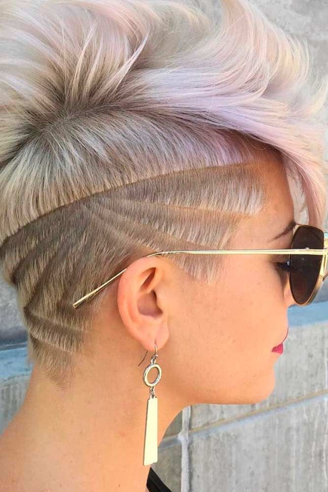 Long Pixie Hairstyle #blondehair #pixiehair ★  Undercut women hair styles are super daring, and that is why not every babe can pull one off. But if you are an artistic person or a tomboy we are sure that you can sport an undercut. See the trendiest undercuts here. #glaminati #lifestyle #undercutwomen