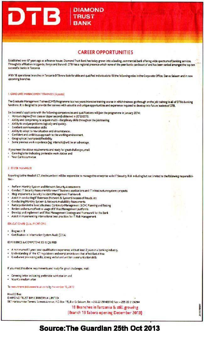 Management trainee job description