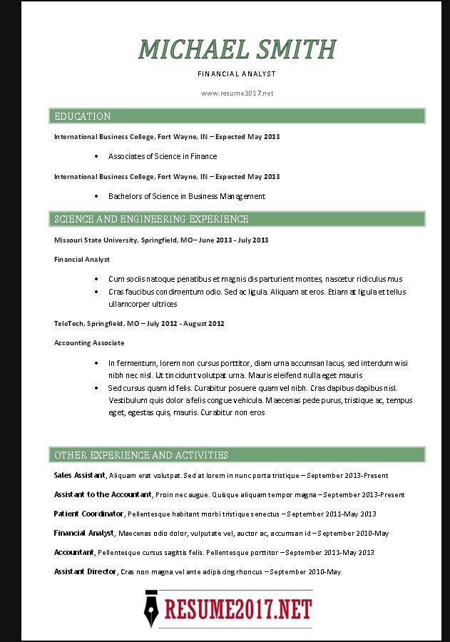 Chronological Resume Builder Chronological Resume Template - chronological resume templates