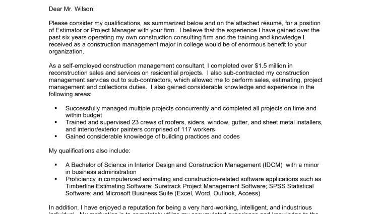 ... Construction Estimator Resumes Free Construction Estimator Resume    Drywall Estimator Cover Letter ...