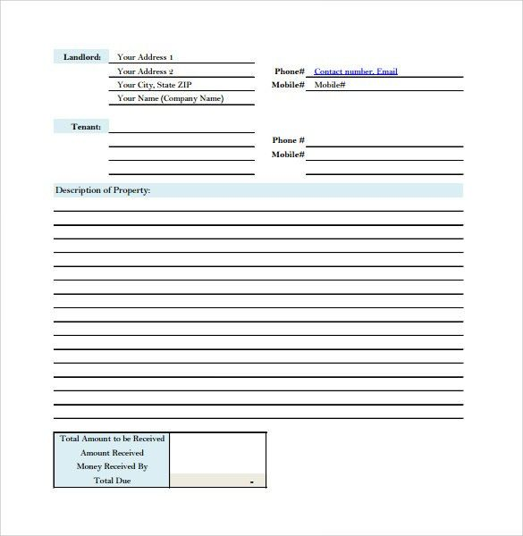 Home Rental Receipt House Rent Receipt Format Free Word Templates - rental ledger template