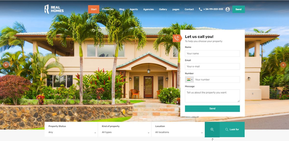 Real Estate Agent For Property Sales Design Themes