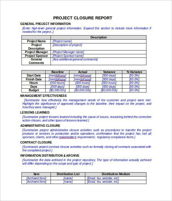 Report Template In Word Papers And Reports Officecom, 17 Business - project closure report template