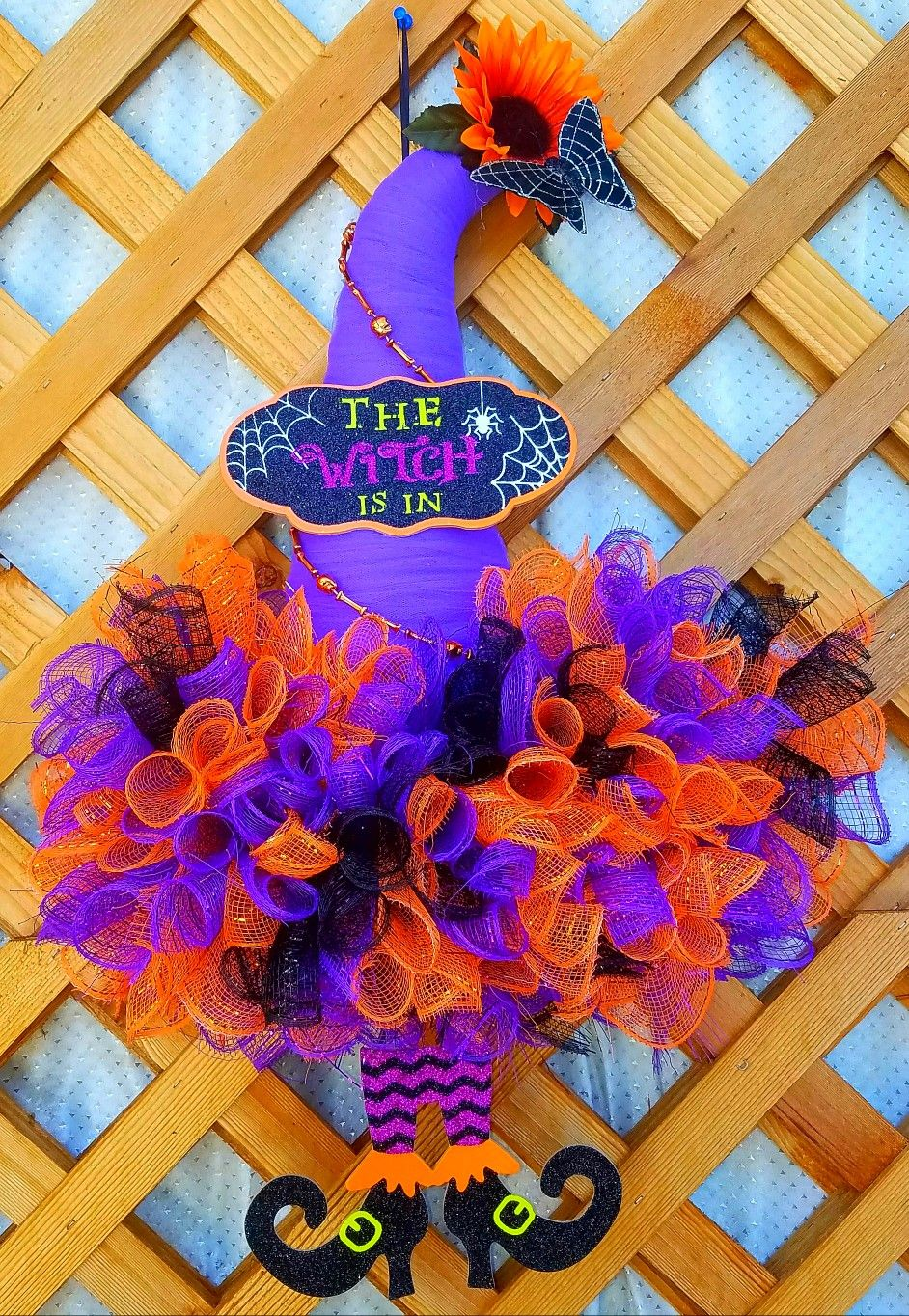 Dollar Tree Witch Hat by Syn. Halloween Decoration. Sold