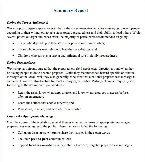 ... Event Summary Report Template Summary Report Template 8 Free   Sample Summary  Report Template ...  Event Summary Report Template