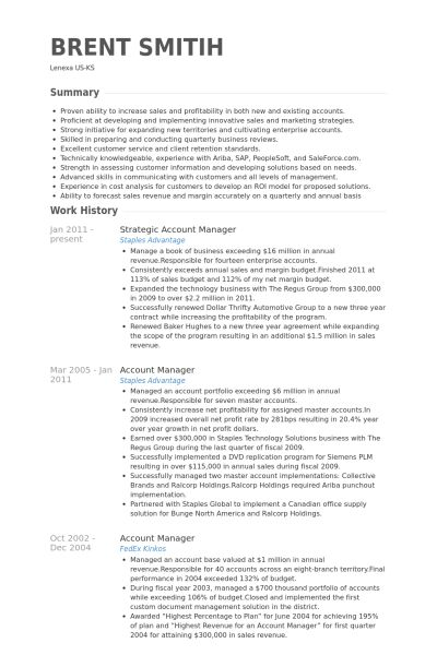 account manager resume sample account manager cv template sample - Sample Account Manager Resume