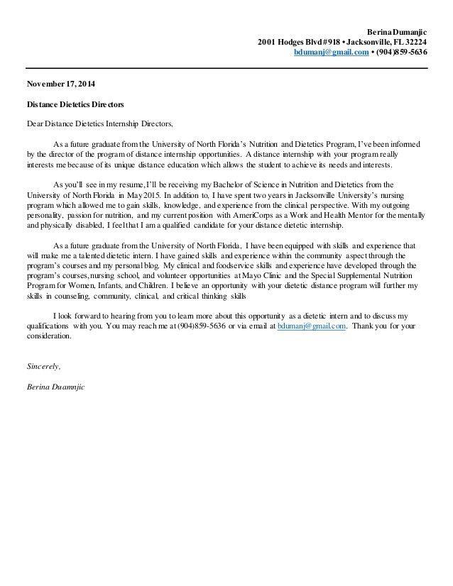 Cover Letter Intern] Cover Letter For Internship Sample Fastweb