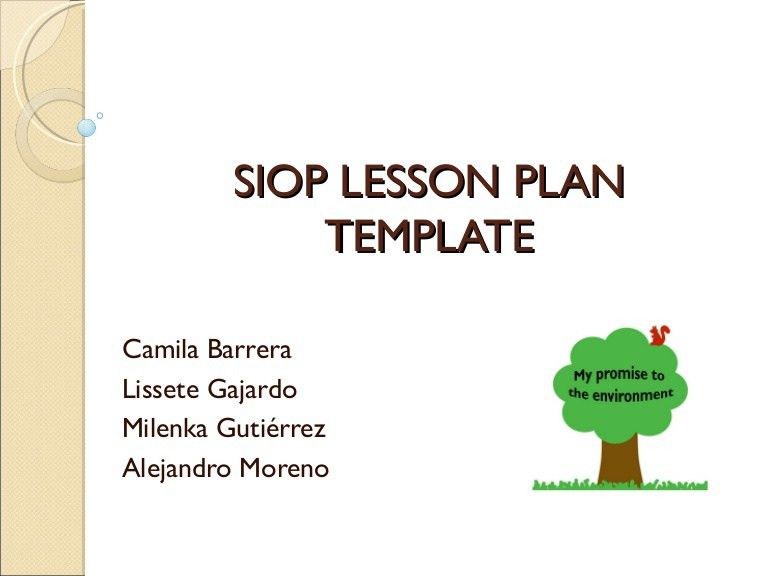 Siop lesson plan template free word pdf documents download - siop lesson plan templat
