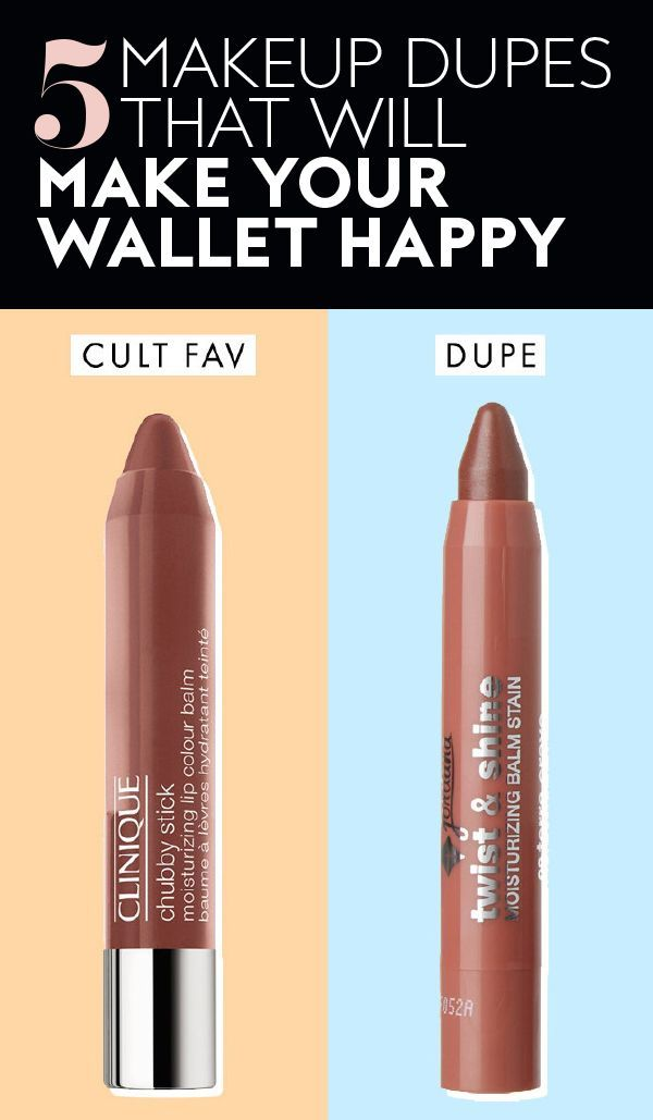 These five perfect makeup #dupes will make you and your wallet happy. #makeup #beauty #drugstoremakeup #bestdrugstoremakeup #makeupdupes #cultfavorites #lipstick #affordablemakeup