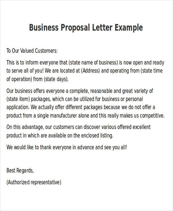 Business Proposal Letter Example 32 Sample Business Proposal - business proposal letter sample