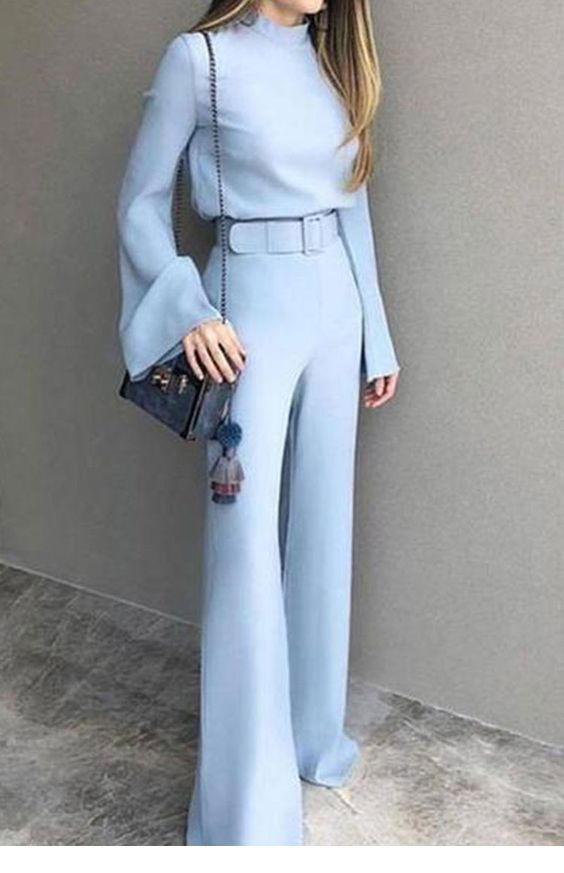 Cool light blue look
