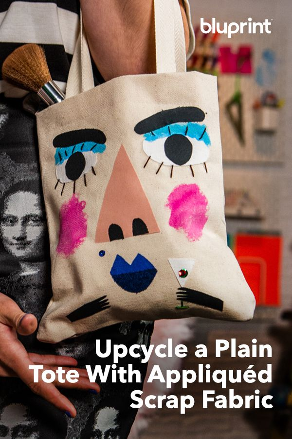 Upcycle a Plain Tote With Appliquéd Scrap Fabric
