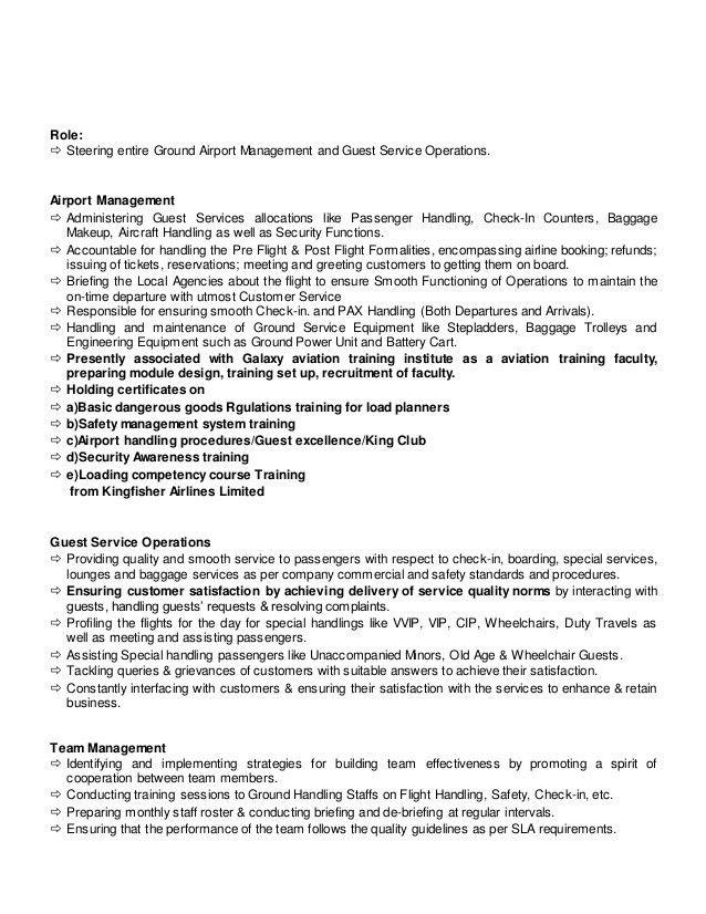 Ramp Service Agent Sample Resume Airport Agent Sample Resume - airport agent sample resume