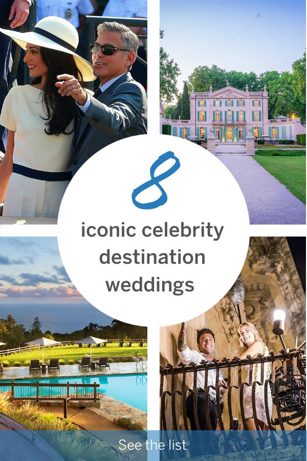 8 iconic celebrity destination weddings