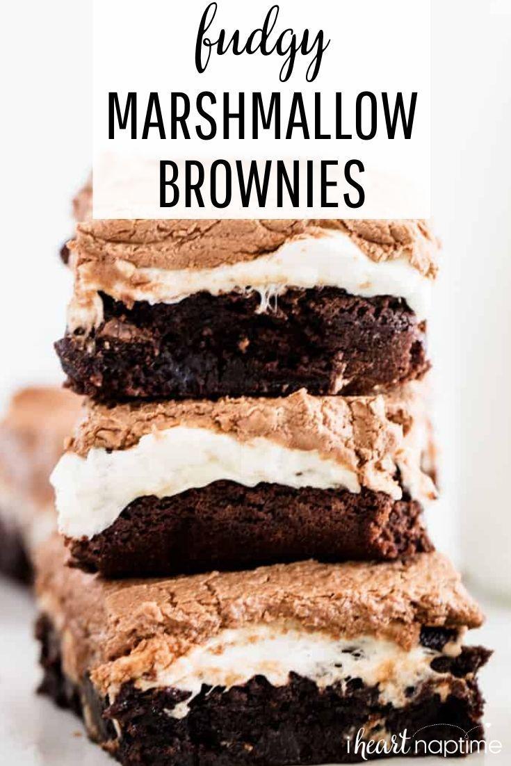 Fudgy Marshmallow Brownies - I Heart Naptime