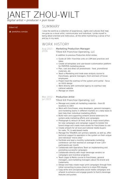 Traffic Production Manager Resume traffic production manager resume - traffic production manager resume