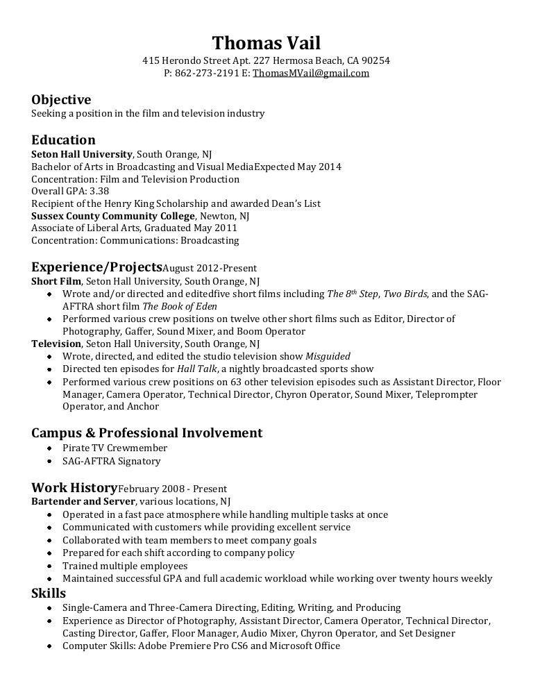 associate producer resume sample