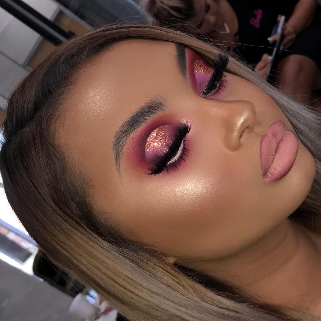 """HAN on Instagram: """"Princess Pinksecco💅🏽💖 @plouise_makeup_academy Using @plouise_makeup_academy original palette @glam_lash17 lashes @glamandcocosmetics…"""""""