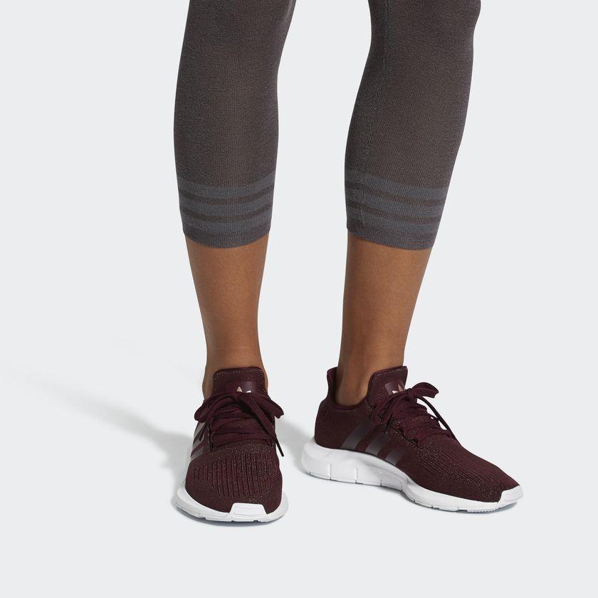 New Adidas swift run , burgundy and glittery undertones <3
