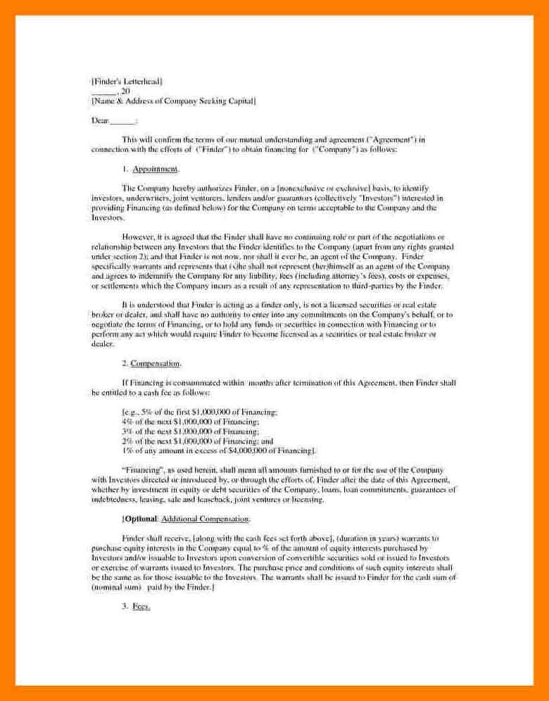 Business Agreement Letter Between Two Parties How To Write A - agreement letter