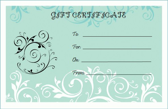 Gift Certificate Free Template Download Art Business Gift - gift certificate free templates