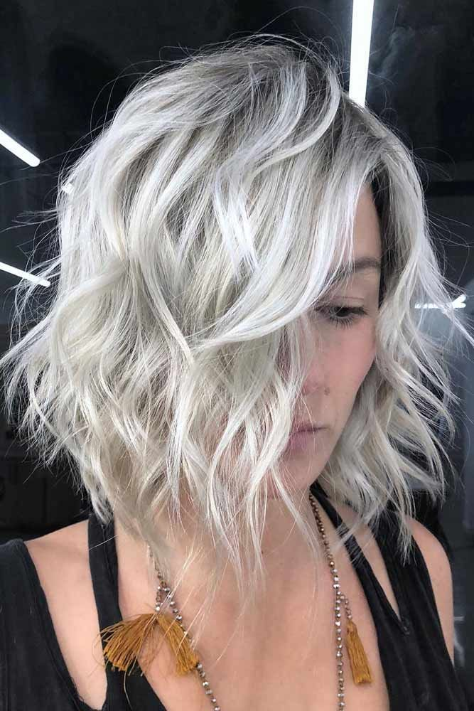 Blonde Textured Bob #texturedbob #layeredbob ★ In case you would like to discover the most popular short layered haircuts, we can assure you that this post will make you really happy.  #layeredhaircuts #shortlayeredhaircuts #layeredhair #shorthair