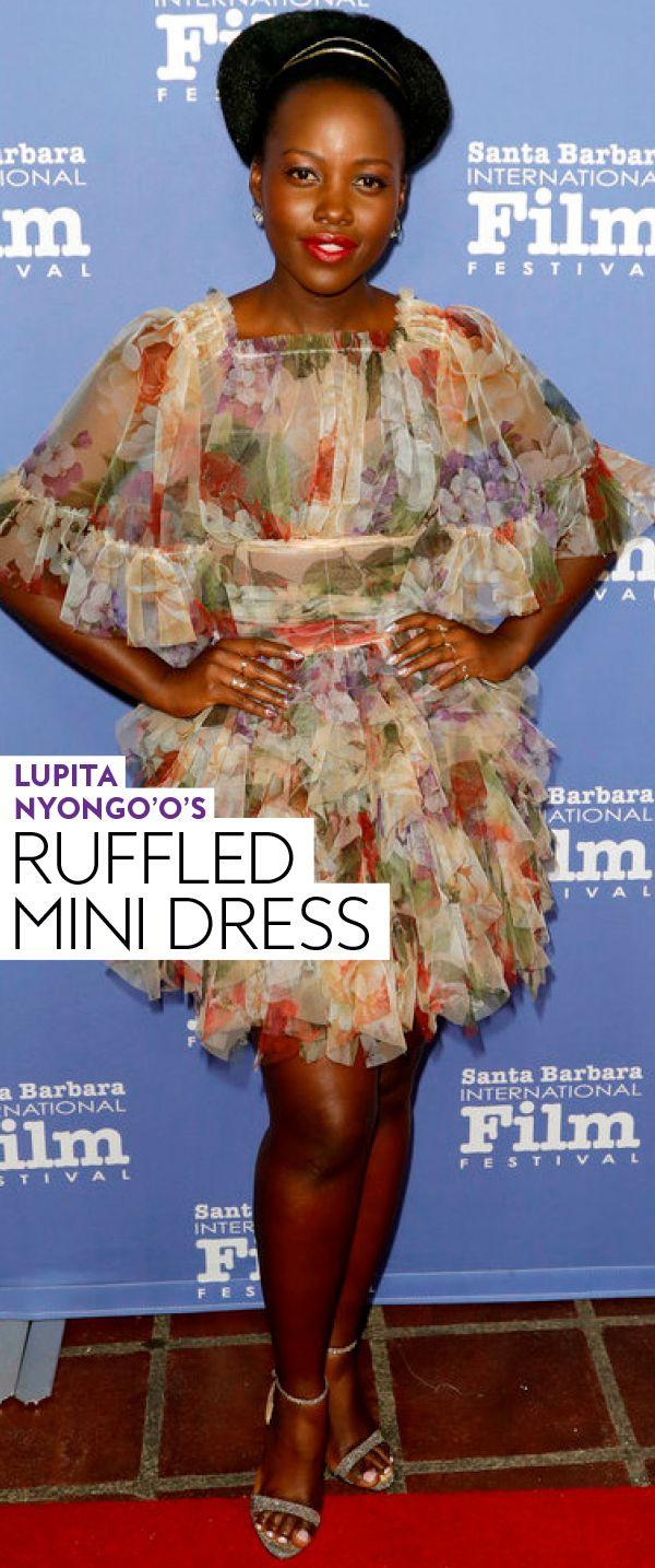 Lupita Nyongo'o Ruffled Mini Dress