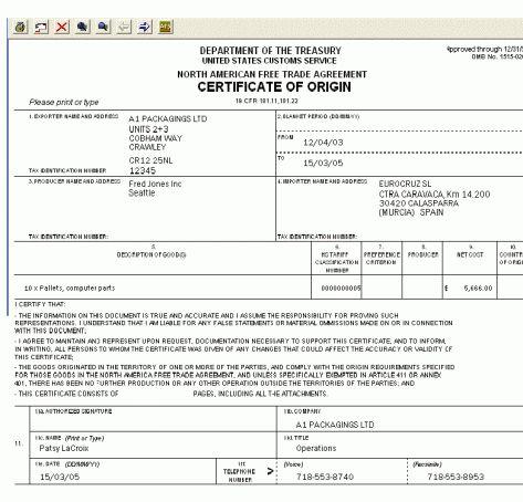 Example Certificate Of Origin 5 Certificate Of Origin Templates - certificate of origin template