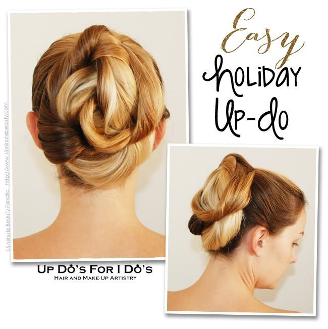 Easy Up-Do Hair Tutorial that Anyone Can Do – 15 Minute Beauty Fanatic