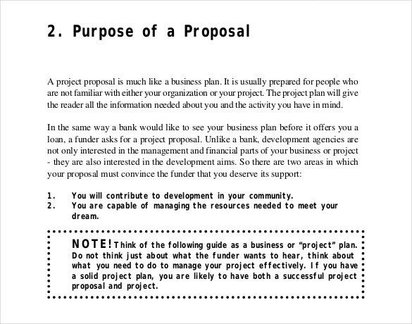 Project Proposal Format Template Project Proposal Template 13 - proposal for a project