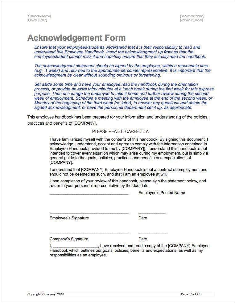 Employee Handbook Template Employee Handbook Template Handbook - employee manual template