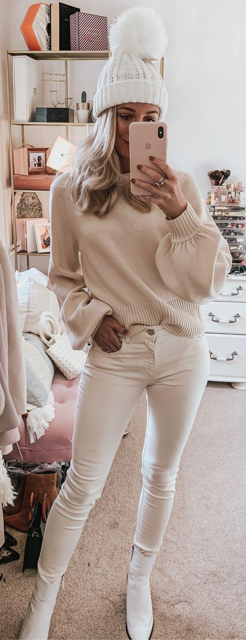 white knit cap