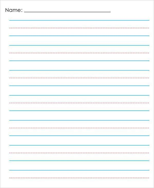 ... Lined Papers 16 Word Lined Paper Templates Free Download Free   Lined  Paper Pdf ...