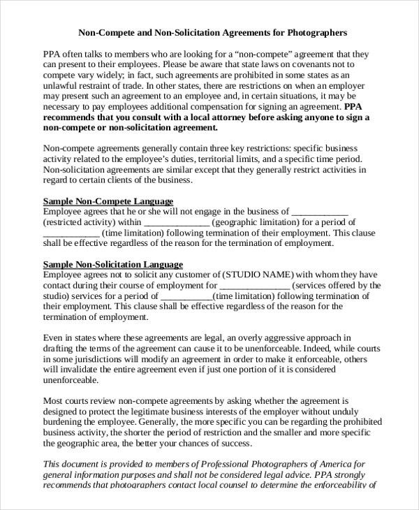Simple Agreement Sample 15 Basic Rental Agreement Templates Free - business non compete agreement