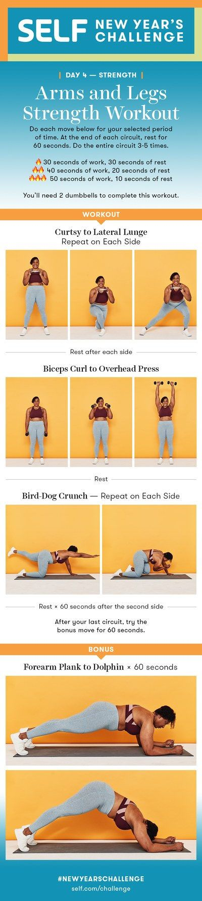 20-Minute Arm and Leg Strength Workout With Dumbbells