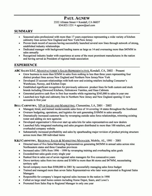 Summary Resume Samples Effective Chef Resume Template And - examples on how to write a resume
