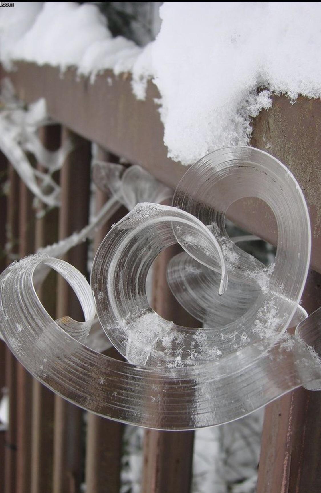 This satisfying ice development