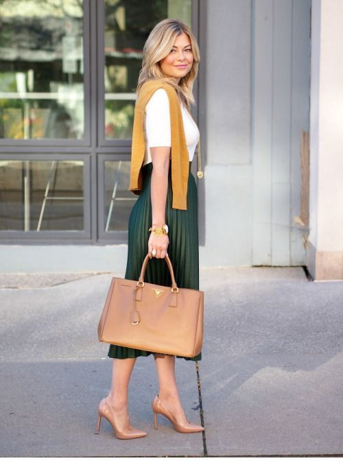Nice green midi skirt