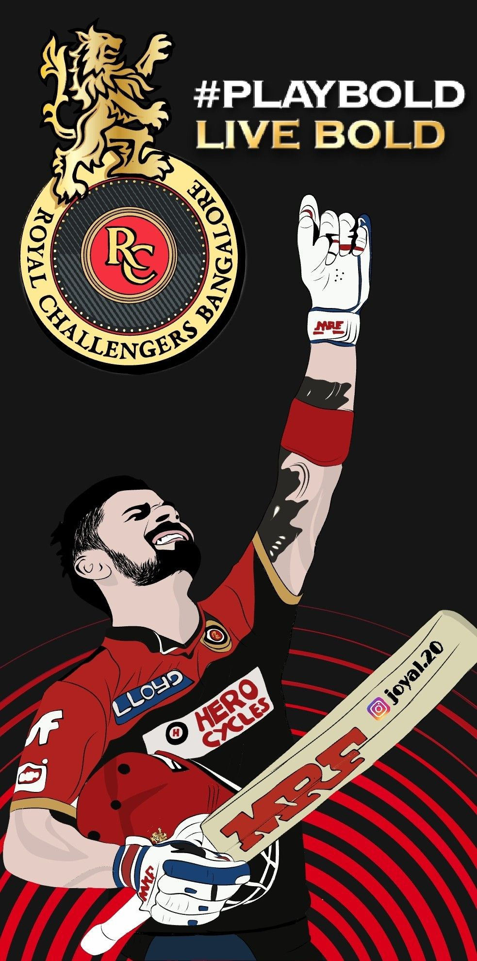 ipl19 virat kohliwallpaper(2 days Hardwork)Art