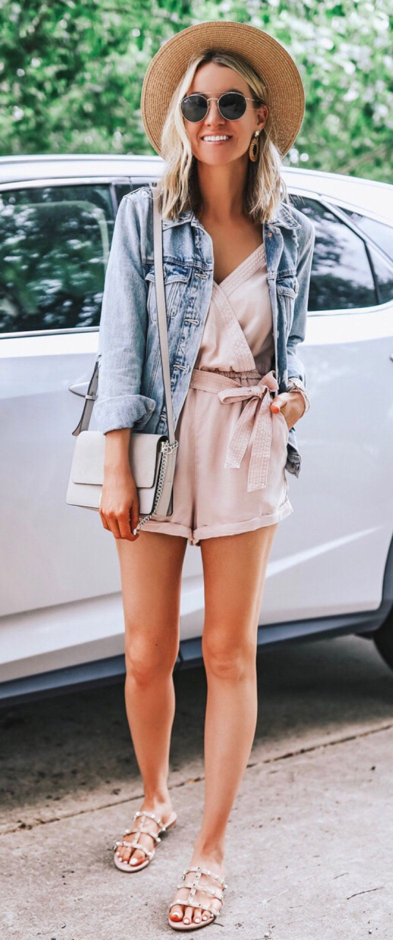 white romper #summer #outfits