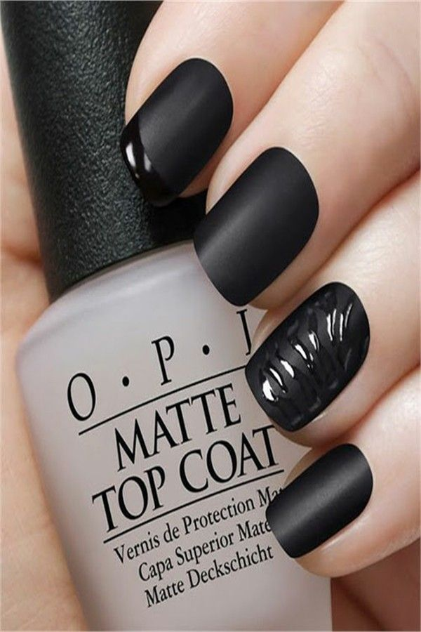 Top 33 Perfect Black Gel Nail Art Designs Trends 2019 – Fashonails
